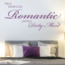 I'm A Hopeless Romantic ~ Wall sticker / decals